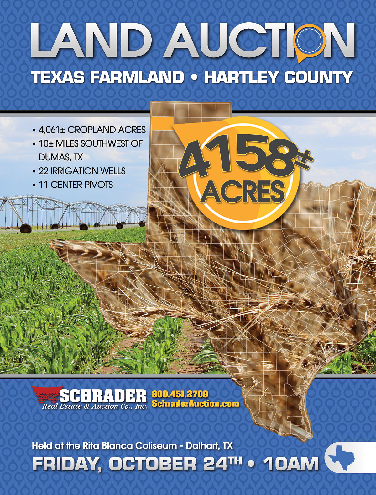 TEXAS LAND AUCTION, 4,158+/- Acres offered in 3 Tracts - Schrader