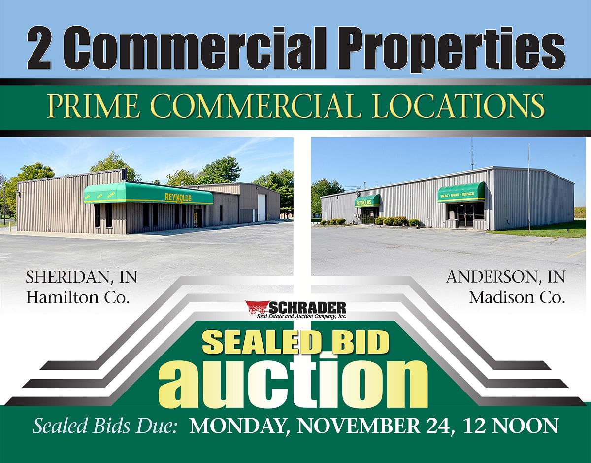 2 COMMERCIAL PROPERTY AUCTIONS, SEALED BIDS ONLY - Schrader