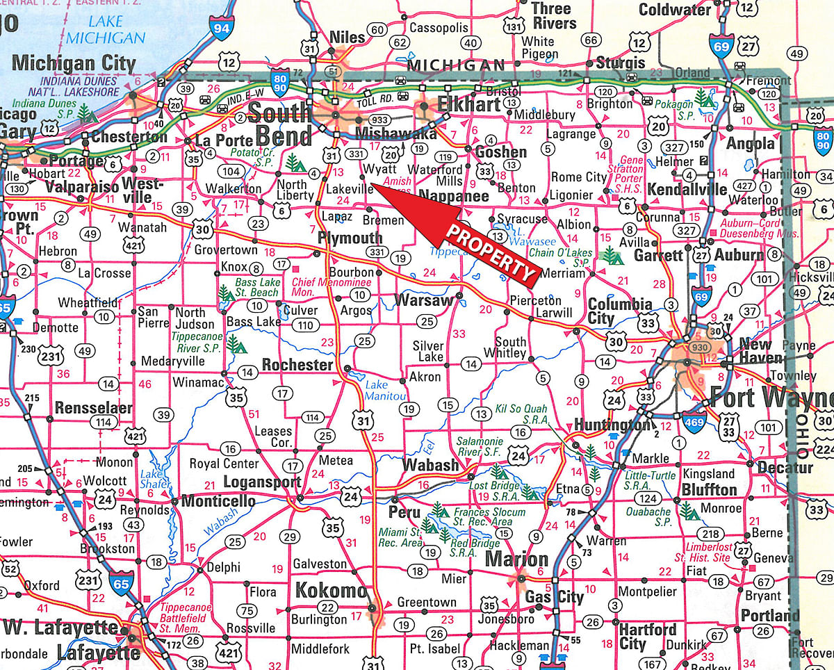 Indiana st joseph county wyatt - Area Map S