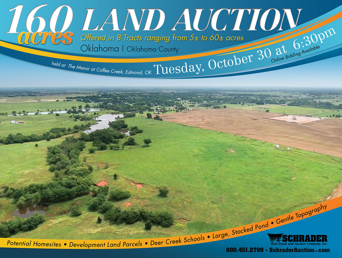 FARMLAND AUCTION - LAND AUCTION - 160+/- ACRES OFFERED IN 8