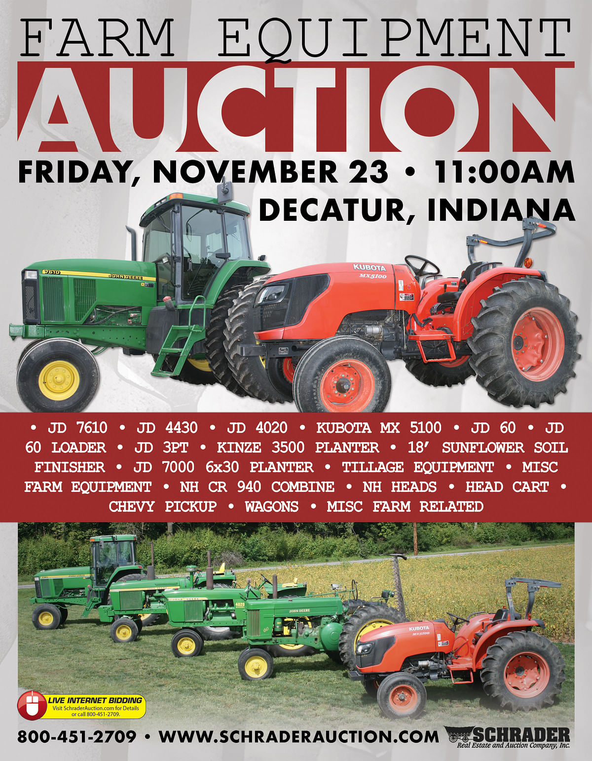 FARM EQUIPMENT AUCTION - FARM EQUIPMENT AUCTION IN ADAMS