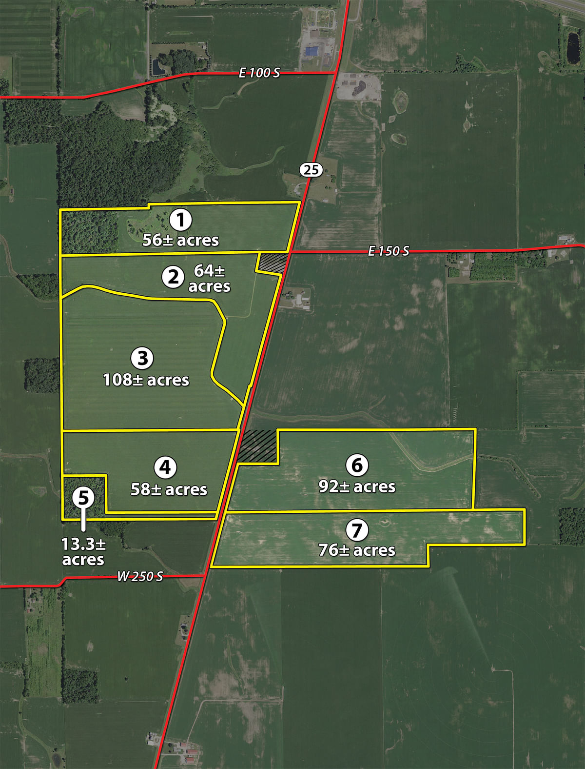 FARMLAND AUCTION - LAND AUCTION - 541.3+/- ACRES IN 9 TRACTS IN ...